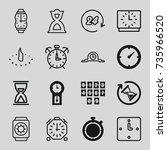 clock icons set. set of 16... | Shutterstock .eps vector #735966520