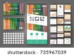 website template  one page... | Shutterstock .eps vector #735967039