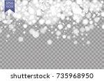 vector falling snow effect...   Shutterstock .eps vector #735968950