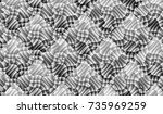 gray geometric and curve line... | Shutterstock . vector #735969259