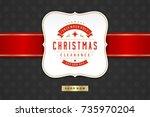 christmas sale label design on... | Shutterstock .eps vector #735970204