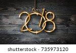 2018 happy new year seasonal... | Shutterstock . vector #735973120