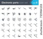 complete vector set of electric ...   Shutterstock .eps vector #735984103