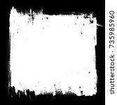 background. template  frame ... | Shutterstock . vector #735985960