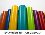 vinyl rolls of many colors | Shutterstock . vector #735988930
