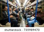 london  uk   5 october 2017 ... | Shutterstock . vector #735989470