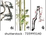 chinese traditional... | Shutterstock . vector #735995140