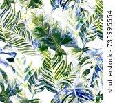 watercolor seamless pattern...   Shutterstock . vector #735995554