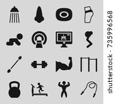 body icons set. set of 16 body... | Shutterstock .eps vector #735996568
