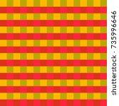 yellow  green  red tartan plaid ... | Shutterstock .eps vector #735996646