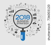 2018 text design on creative... | Shutterstock .eps vector #736003120