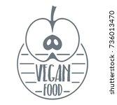 farm food logo. vintage... | Shutterstock .eps vector #736013470