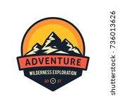 adventure wilderness... | Shutterstock .eps vector #736013626