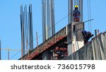 labor working on construction...   Shutterstock . vector #736015798