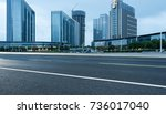 empty road with modern... | Shutterstock . vector #736017040