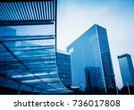 architectural complex against... | Shutterstock . vector #736017808