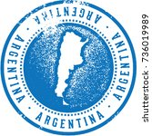 vintage argentina south... | Shutterstock .eps vector #736019989