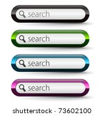 set of glossy search icon ... | Shutterstock .eps vector #73602100