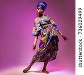 national costume african woman  ... | Shutterstock . vector #736029499