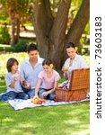 lovely family picnicking in the ... | Shutterstock . vector #73603183