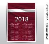 calendar of latvia flag | Shutterstock .eps vector #736033210