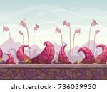 fantasy scary seamless... | Shutterstock .eps vector #736039930