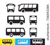 set of bus icon. vector... | Shutterstock .eps vector #736042384