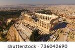 aerial birds eye view photo... | Shutterstock . vector #736042690