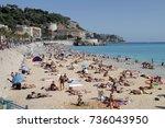 nice  france   september 14 ... | Shutterstock . vector #736043950