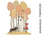 little red riding hood fairy...   Shutterstock .eps vector #736044130