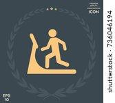 man on treadmill icon | Shutterstock .eps vector #736046194