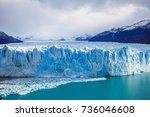 the perito moreno glacier is a... | Shutterstock . vector #736046608