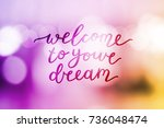 welcome to your dream  vector... | Shutterstock .eps vector #736048474
