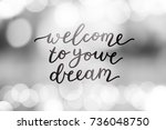 welcome to your dream  vector... | Shutterstock .eps vector #736048750