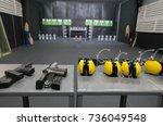 firearm  bullets  ear... | Shutterstock . vector #736049548