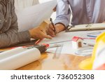 architectural conference... | Shutterstock . vector #736052308