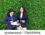 asian businesswoman team taking ...   Shutterstock . vector #736053946