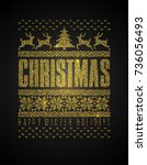 ugly sweater ornament made of...   Shutterstock .eps vector #736056493