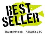 bestseller sticker. authentic... | Shutterstock .eps vector #736066150