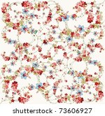 Stock vector flower background vector illustration 73606927