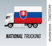 symbol of national delivery...   Shutterstock .eps vector #736072144