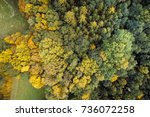 aerial drone view of stunning... | Shutterstock . vector #736072258