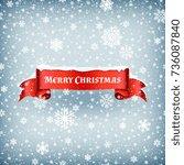 merry christmas celebration...   Shutterstock .eps vector #736087840