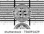 design element. 3d illustration.... | Shutterstock . vector #736091629