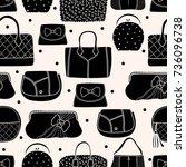 cute fashion seamless pattern...   Shutterstock .eps vector #736096738