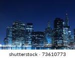 lower manhattan skyline at... | Shutterstock . vector #73610773