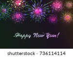 happy new 2018 year. seasons... | Shutterstock .eps vector #736114114