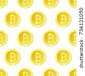 bitcoin vector is an isolated... | Shutterstock .eps vector #736121050