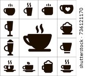 variety of coffee or tea cups...