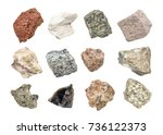isolated igneous rock geology... | Shutterstock . vector #736122373